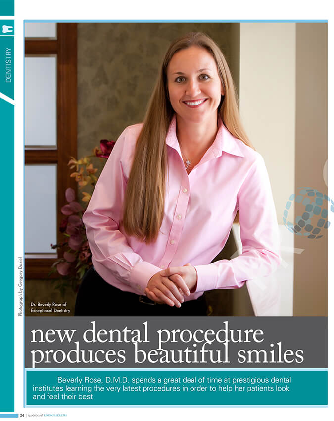 Dental procedure magazine article page one