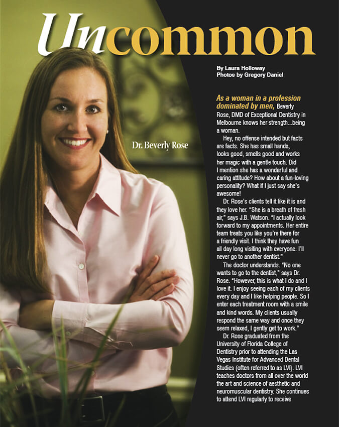 Uncommon magazine article first page