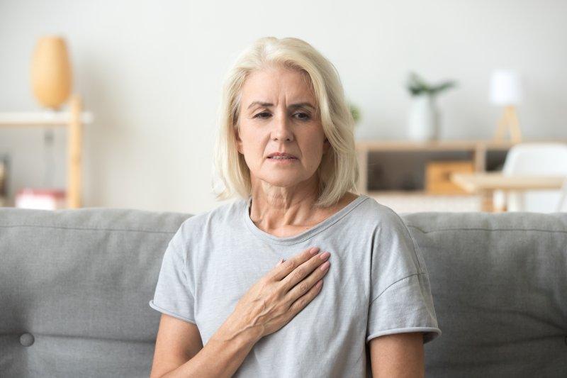 Woman with cardiovascular disease