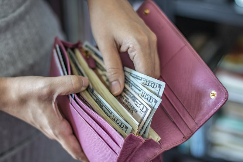 Wallet of money