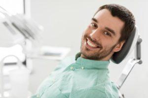 man visiting dentist in Melbourne
