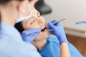 woman relaxed visiting dentist in Melbourne